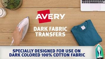 Avery Dark Fabric Transfers