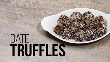 No Bake Coconut Cashew Date Truffles