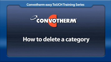 Cleveland Convotherm: Deleting a Category