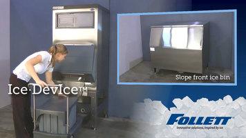 Follett Ice Device vs. Slope Front Bins