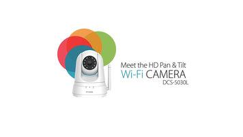 D-Link DCS5030L HD Pan and Tilt Wifi Camera