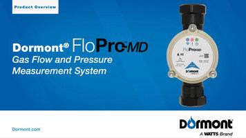 Dormont FloPro-MD: Gas Flow and Pressure Measurement System