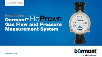 Dormont FloPro-MD Gas Flow and Pressure Measurement System – Installation