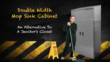 Advance Tabco Double Width Mop Sink Cabinet