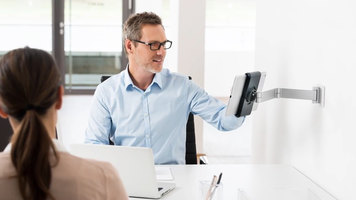 Durable Tablet Mount: Wall Arm