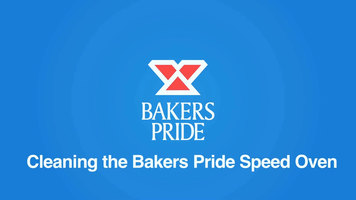 Bakers Pride e300 Speed Oven: Cleaning