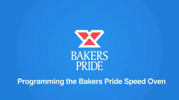 Bakers Pride e300 Speed Oven: Programming