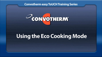 Cleveland Convotherm: Eco Cooking