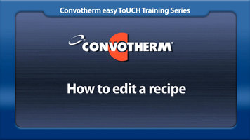 Cleveland Convotherm: Editing Recipes