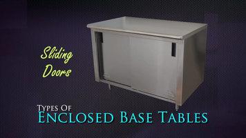 Advance/Tabco Enclosed Base Tables