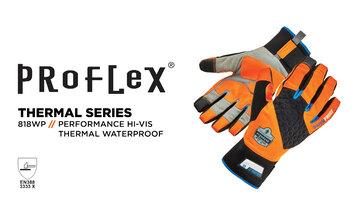 Ergodyne ProFlex 818WP Orange Thermal Waterproof Work Gloves with Tena-Grip