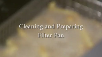 Frymaster: Cleaning and Preparing the Filter Pan