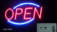 LED Open Sign Modes