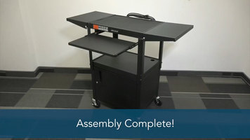 Luxor Assembly Guide: Adjustable Height Metal Cart