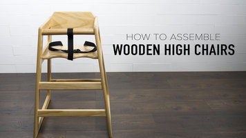 Lancaster Table & Seating: How to Assemble a Wooden High Chair