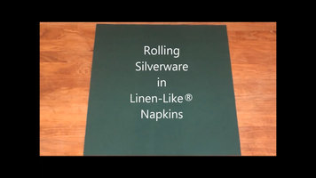 Hoffmaster Linen-Like Napkins: How to Roll Silverware