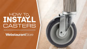 How to Install Casters on a Work Table