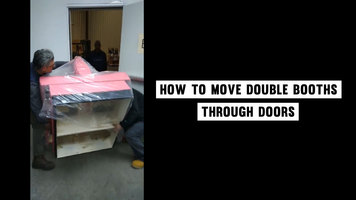 How to Move a Double Booth Through a Door