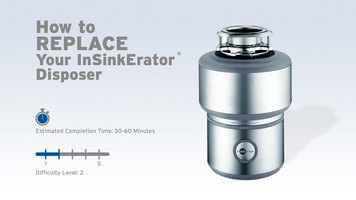 InSinkErator Garbage Disposals: How To Replace A Disposer
