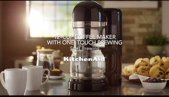 KitchenAid: 12 Cup Coffee Maker with One Touch Brewing