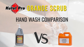 Heavy-Duty Hand Cleaner Comparison: Kutol Pro Orange Scrub Cleans Better