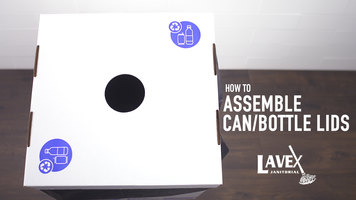 Lavex Can and Bottle White Cardboard Recycling Lid Assembly