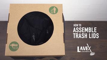 Lavex Cardboard Trash Lid Assembly