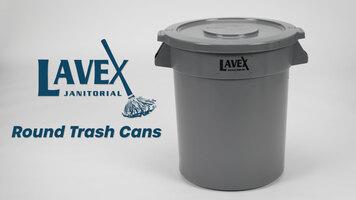 Lavex Round Trash Cans