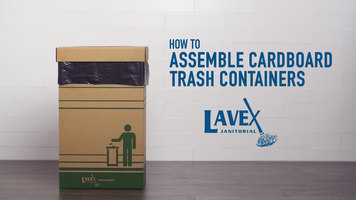 Lavex Cardboard Trash Container Assembly