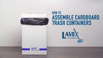 Lavex White Cardboard Trash Container Assembly