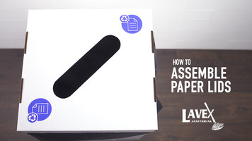 Lavex White Cardboard Paper Recycling Lid Assembly