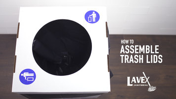 Lavex White Cardboard Trash and Recycling Lid Assembly