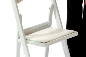 Resin Folding Chair with Padded Seat