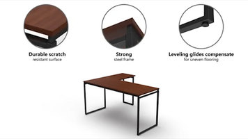 Linea Italia L-Shaped Desk
