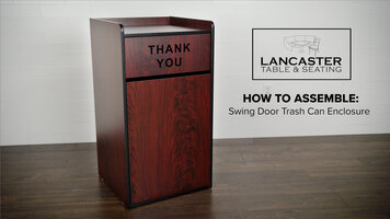 How to Assemble a LT&S Swing Door Trash Can Enclosure