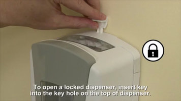GOJO® LTX-12 Touchless Soap Dispenser: Lock System