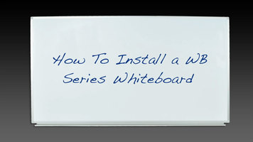 How to Install Luxor WB Series Whiteboards
