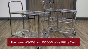 Luxor Collaspsible Wire Utility Carts
