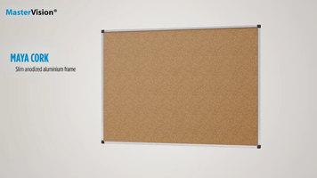 MasterVision Maya Cork Board
