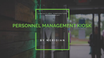 Meridian: Personnel Management Kiosk   Feature