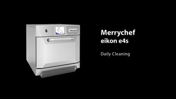 Merrychef eikon e4s Combination Oven: Cleaning