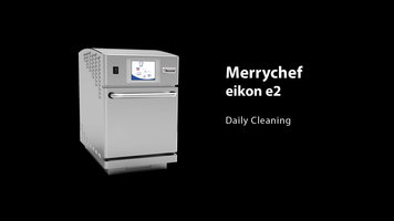 Merrychef eikon e2 Combination Oven: Cleaning
