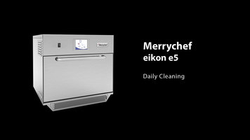 Merrychef eikon e5 Combination Oven: Cleaning