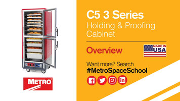 Metro C5 3 Series Holding and Proofing Cabinets