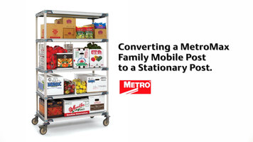 Metromax Shelving Units: Converting Mobile Posts to Stationary Posts