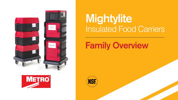 Metro Mightylite Insulated Food Carriers Overview