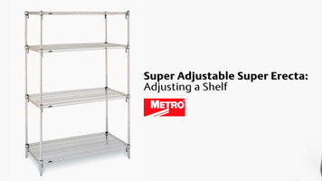 Metro Super Erecta Shelving: Adjusting a Shelf