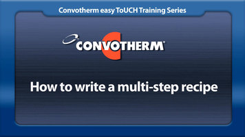 Cleveland Convotherm: Multi-Step Recipes