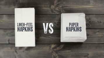 Touchstone By Choice White Linen Feel Pocket Fold Dinner