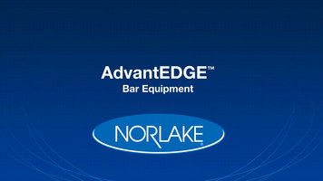Nor-Lake AdvantEdge Bar Equipment